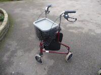 3 Wheel Rollator walking aid. Very good condition.