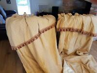 2 pairs of elegant curtains