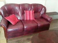 Leather 5 seater sofa