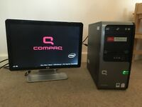 Compaq Presario SR5139 Desktop PC and HP Monitor