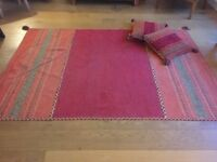 Kilim Red Traditional rug + 2 cushion covers