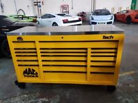 MAC TOOLS TECH 1080 TOOL BOX WITH STAINLESS TOP