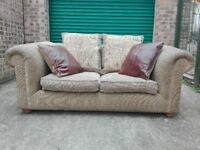 John Lewis Africa leopard print 2 seater sofa settee very good condition / free delivery