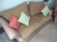 REDUCED Full Leather Two 2 / Three 3 Seater Sofa and two 2 Leather Wing Chairs COST £4300 GC