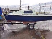 16/17 ft 2 berth sailing boat £850 ONO