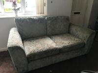 x2 2 seater M&S duck egg blue sofa's