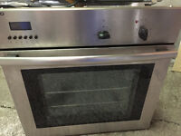 beko built in single electric oven as new stainless steel