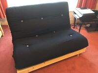Futon Bed Single and Seat Grey or Black Mattress Hardly Used £45 ono