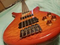 Vintage Active 5 String Bass