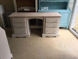 Days Gone Bye - Solid Country Pine Double Dressing Table/Desk