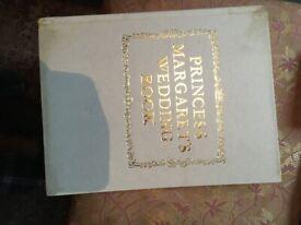 princess margreat wedding book king emperer jubillie book £ 2 . 00 each