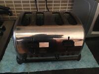 silver color 4 slice toaster