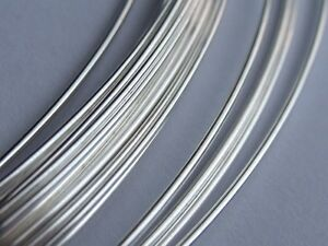 Silver Filled Round Wire - AWG20 (0.8mm) Half Hard - per foot