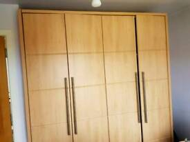 Large double wardrobe in ash