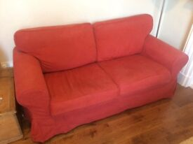 IKEA Ektorp sofa 2 seater red
