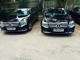 PCO BLACK MERCEDES E300 HYBRID 14 REG CARS HIRE/RENT * UBER READY *