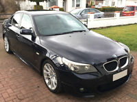 2005 BMW 5 SERIES 525i 2.5 M SPORT MANUAL 4DR SALOON E60 CARBON BLACK NOT 520 530 535