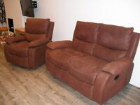 two seater sofa and rocking armchair