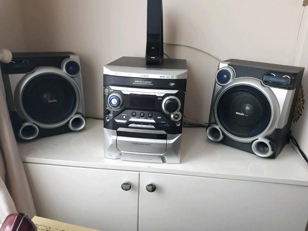 Philips FWM377 MP3 Audio Mini Hifi Sound System CD USB Microphone Input |  in Old Swan, Merseyside | Gumtree