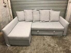 FREE DELIVERY IKEA HOLMSUND LIGHT GREY L-SHAPED CORNER SOFA BED GREAT CONDITION