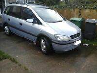 vauxhall zafira 12 MONTHS M.O.T excellent runner (7 seater) £450