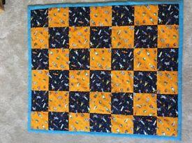 New Handmade baby boy blanket, space themed baby blanket, baby gift, baby shower gift, baby play mat