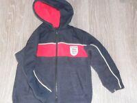 M&S 4/5 yrs England fleece jacket
