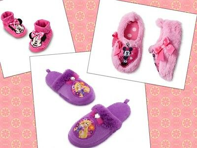 Disney Slippers Minnie Princess Rapunzel Girl Baby Infant Shoes W/ Bow NWT - Rapunzel Slippers