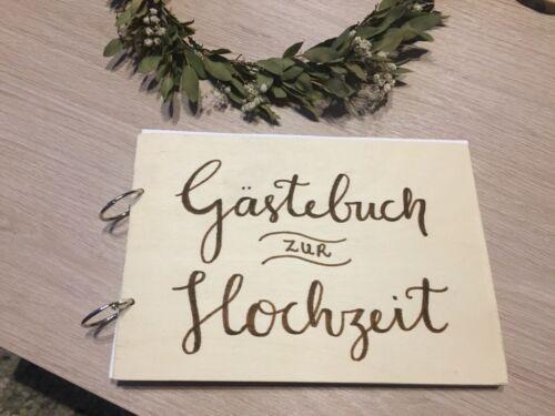 Diy Gastebuch Fur Die Hochzeit Aus Holz Vintage Wedding A5 In