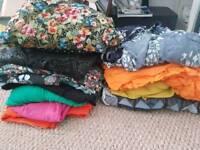 Bundle of dressmaking fabric