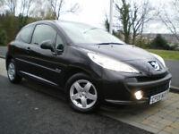 Peugeot 207 1.4 Verve 3dr BLACK * ONLY 55K * Full SERVICE HISTORY * Full MOT * 3 Months WARRANTY