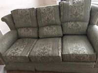 3 seater Sofa and 2 single sofa arm chairs suite £65
