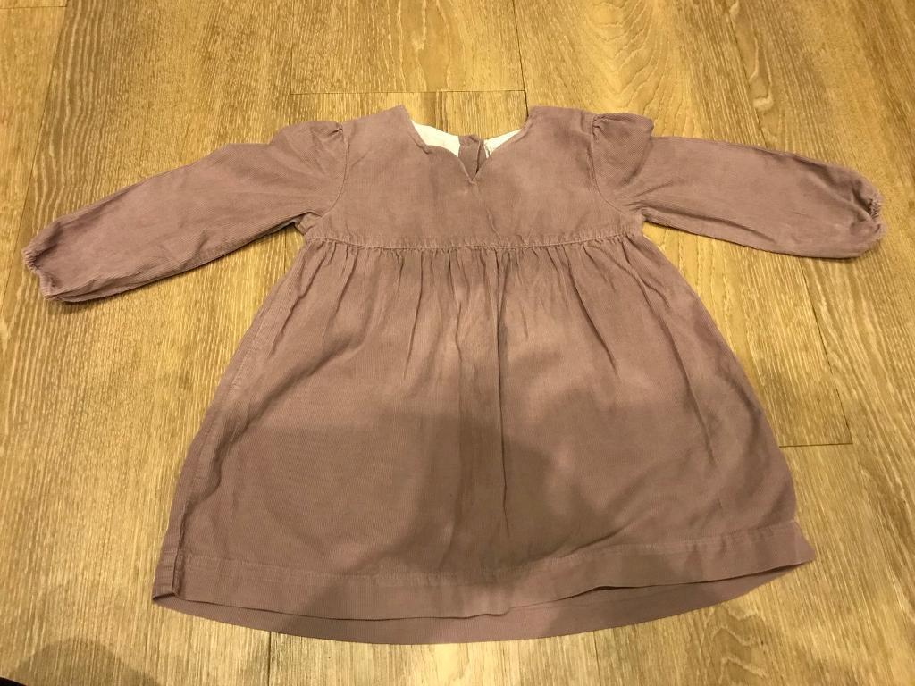 Girls White Company cord dress 18-24 months