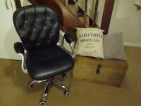 Button Back Black Office Chair