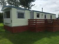 6 berth static caravan on site near Berwick upon tweed