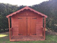 Wooden Garden Shed (Hut Gazebo)