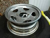 "6 stud 4x4 japanese steel wheels 15"""
