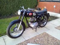 1963 BSA motorcycle C15 star 250 cc