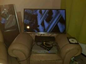40inch tele with dvd player and leads
