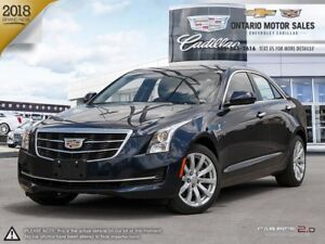 2018 Cadillac ATS $111 Weekly + HST 72 Months @ 0%/ AWD / CUE...