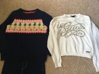 Girls Mini Boden/Guess jumpers/jeans