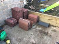 Assorted roof tiles and ridges