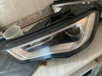 Audi A3 8v s3 xenon headlight left side 2012 to 2016