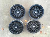 Black 15inch bbs alloys.