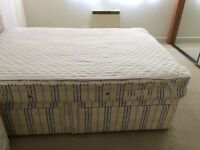 Double bed, mattress with 4 base drawers - £130