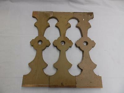3 Antique Shabby Flat Wood Porch Baluster Decorative Chic Gingerbread 3361-14