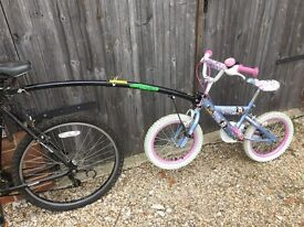 Girls bike and gaitor tow bar