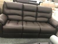 La Z Boy brown leather recliner sofa