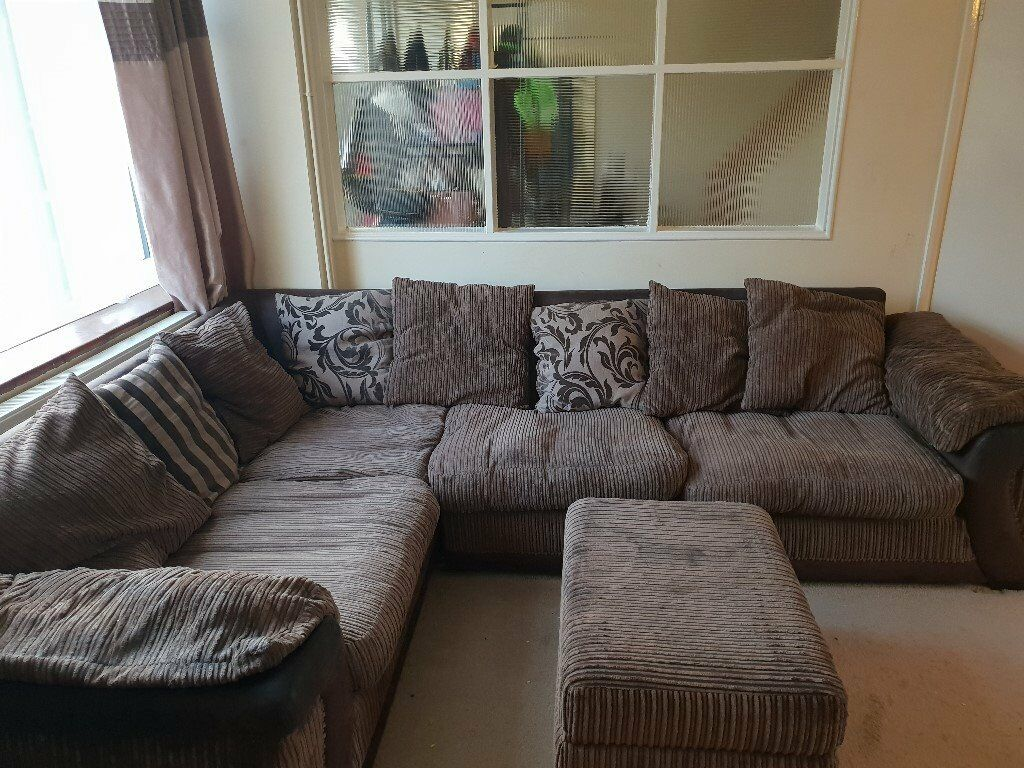 Left hand corner group sofa bed and footstool for sale | in Houghton ...