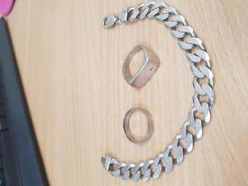 950 Palladium - Silver 925 Ring / Bracelet unwanted Jewellery
